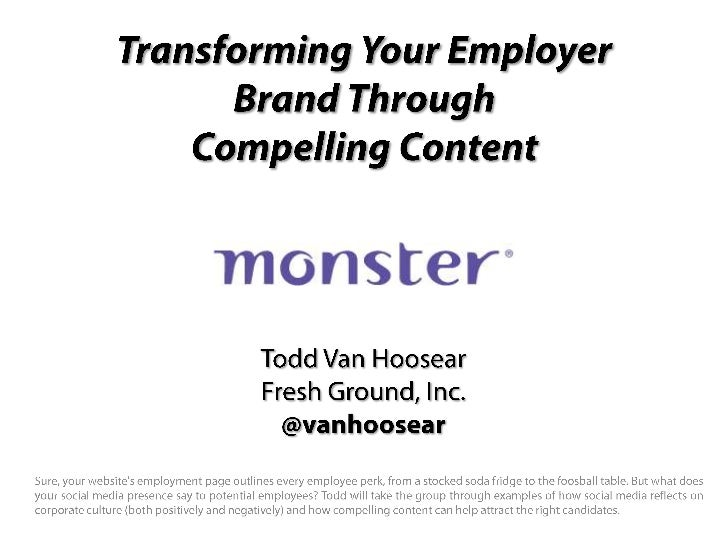 Social Recruiting Content Tips for Monster Social Attendees