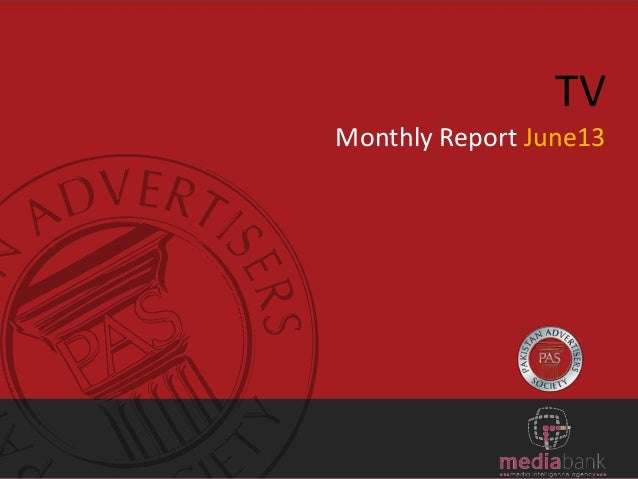 TV Monthly Report June13