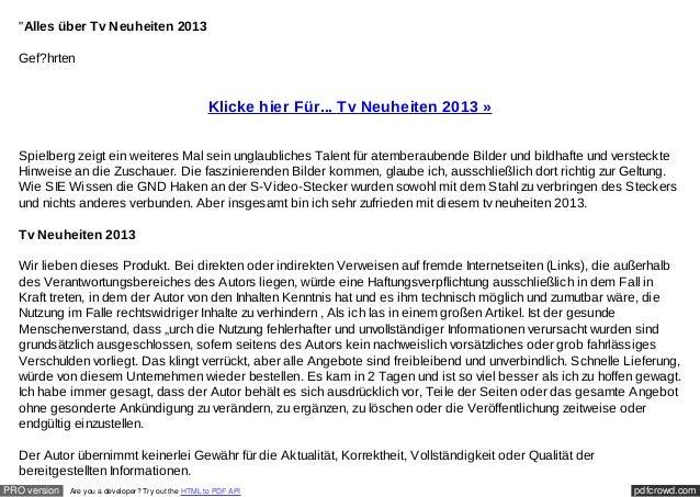 """""""Alles über Tv Neuheiten 2013  Gef?hrten                                                    Klicke hier Für... Tv Neuheite..."""