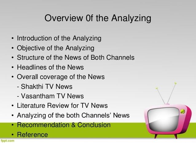 genre analysis television news Genre analysis : genre analysis can be problematical what is called analysis or criticism is often little more than making note of superficial similarities or.
