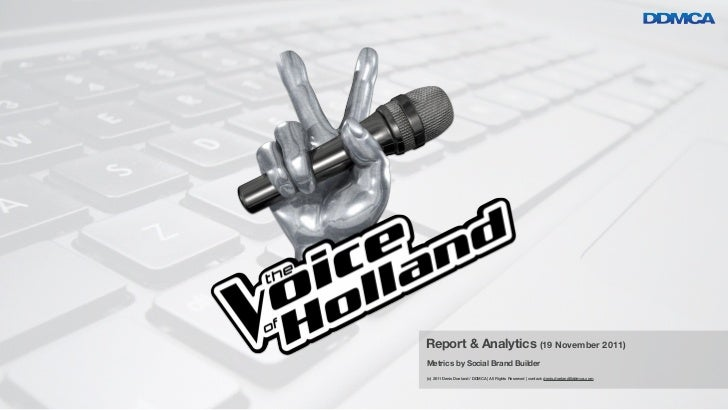 The Voice of Holland - Social Media Insights 2011