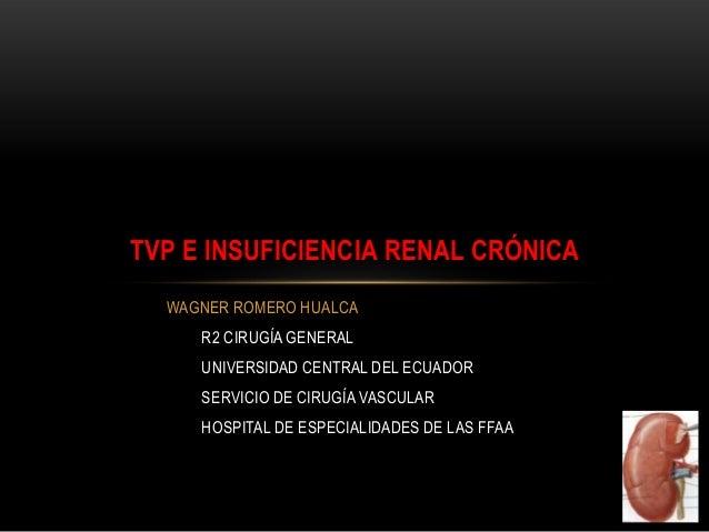 WAGNER ROMERO HUALCAR2 CIRUGÍA GENERALUNIVERSIDAD CENTRAL DEL ECUADORSERVICIO DE CIRUGÍA VASCULARHOSPITAL DE ESPECIALIDADE...