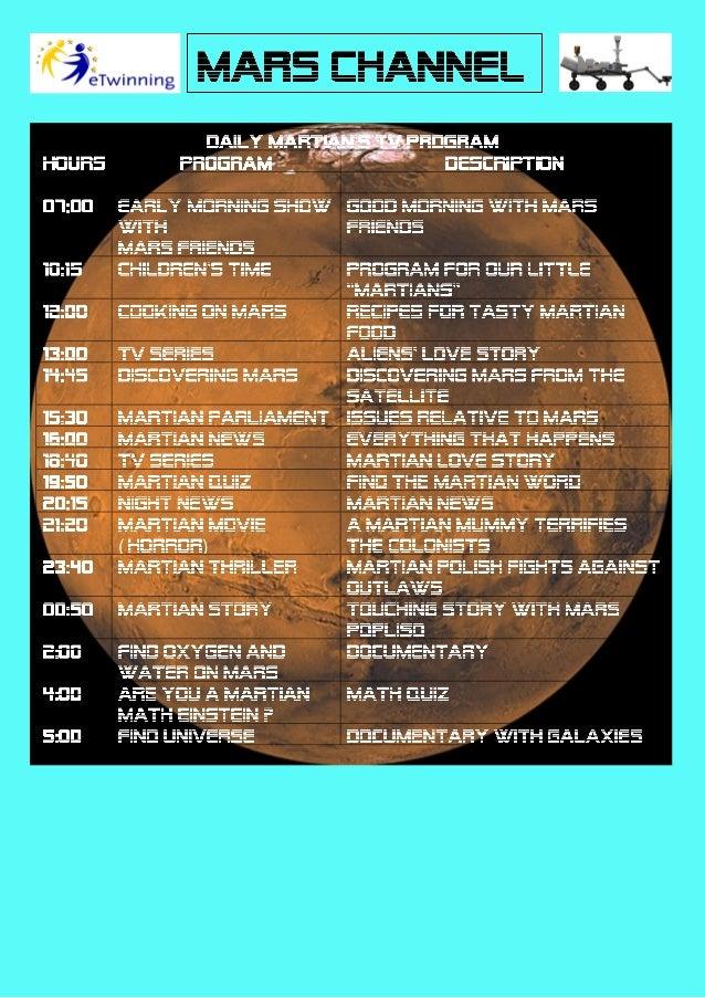 Martian Channel's Tv program