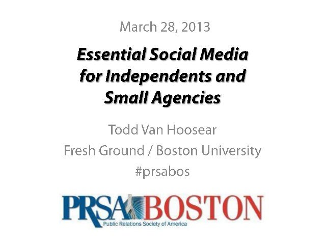 PRSA Boston IPN Social Media DIscussion