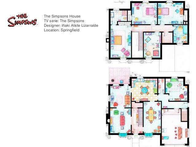 TV    S MOST FAMUS FLOOR PLANSThe Simpsons House TV serie  The Simpsons Designer  Iñaki Aliste Lizarralde Location  Springfield