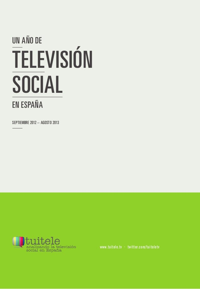 Un año de Tv social en España (Tuitele)