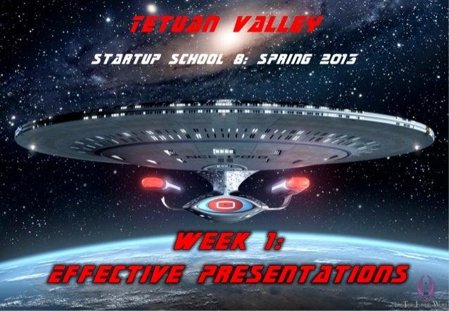 TVSS8 week 1 - 3. effective presentations