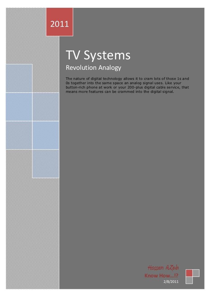 TV Systems Analogy