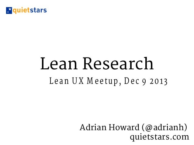 Lean Research