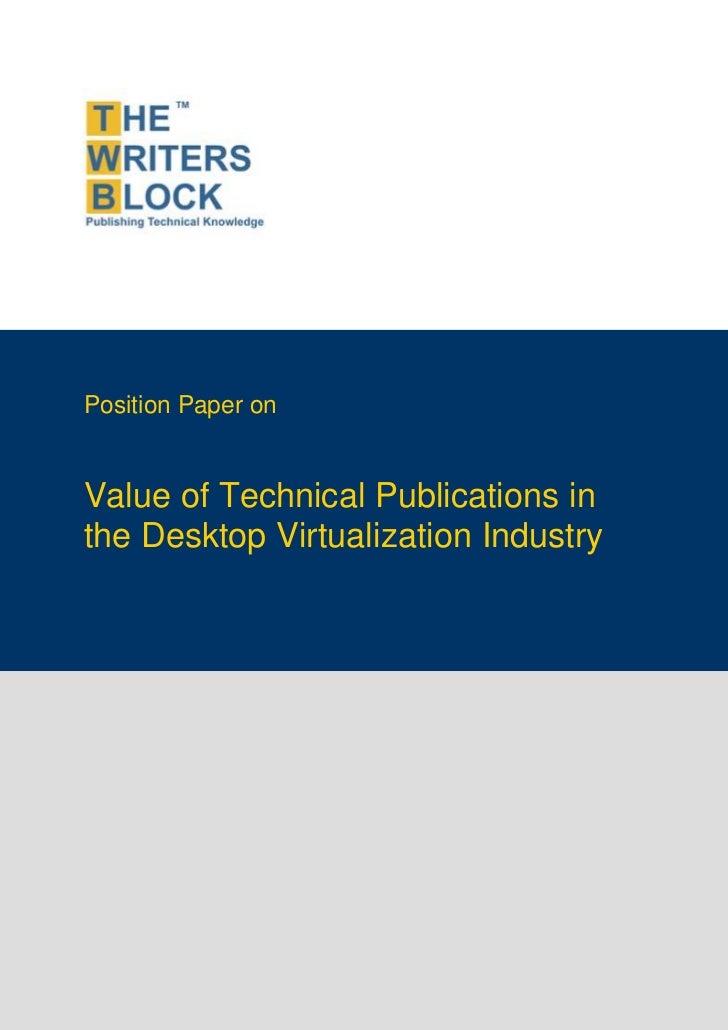 TWB Position Paper - Desktop Virtualization Industry