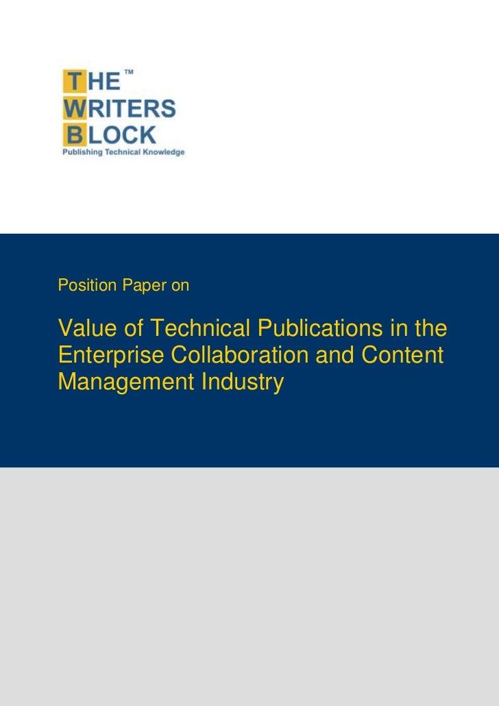 TWB Position Paper - Enterprise Content Management Industry