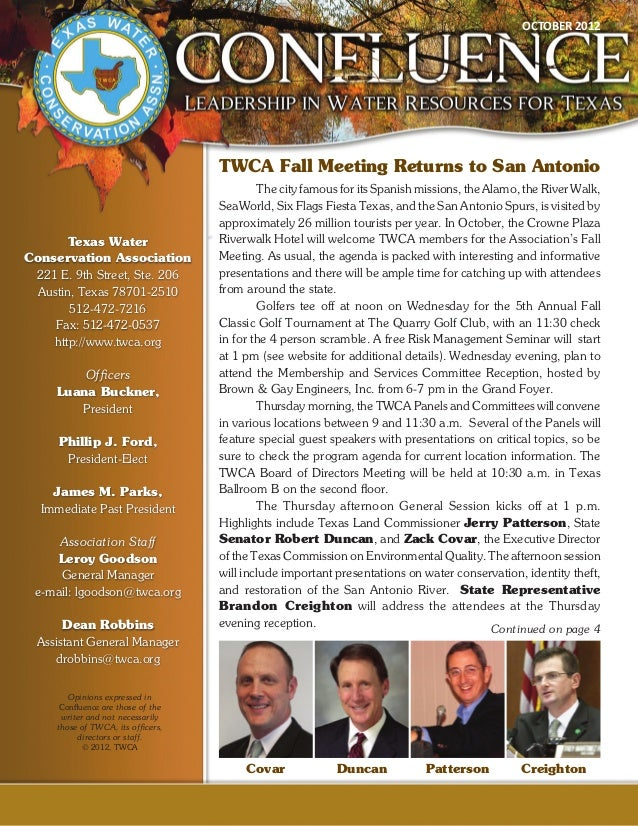 Texas Water Conservation Association October 2012