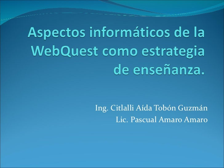 Twebquest