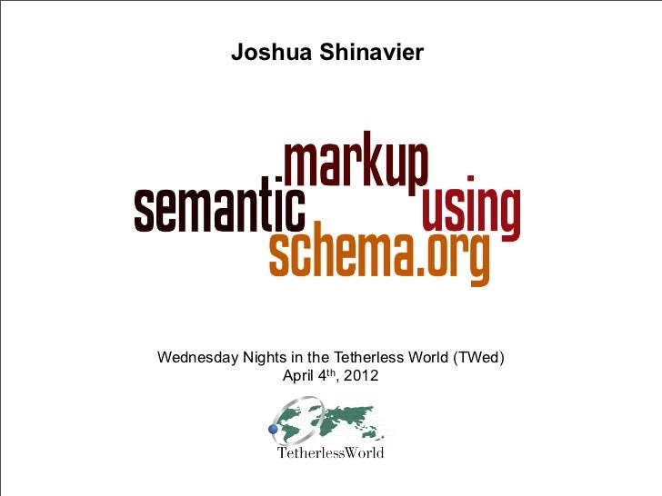 semantic markup using schema.org