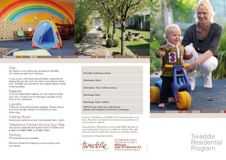 Tweddle residential program