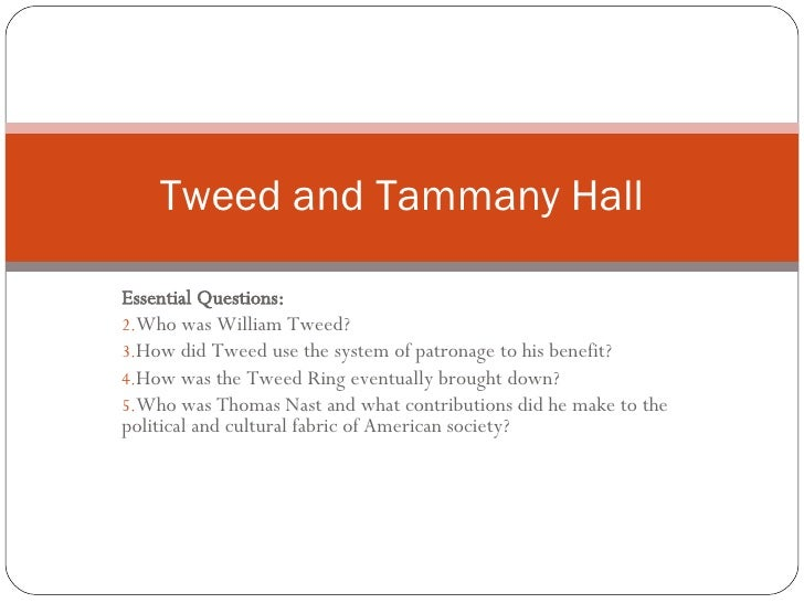 Tweed And Tammany Hall