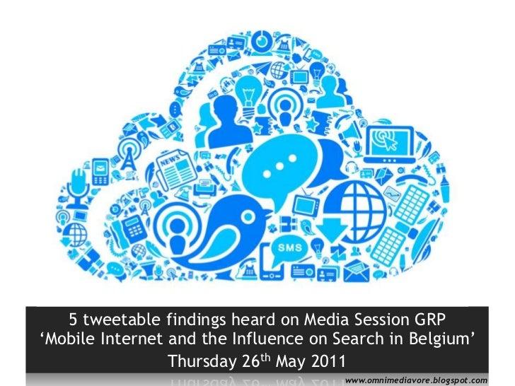 5 tweetable findings on tablets and smartphones in Belgium