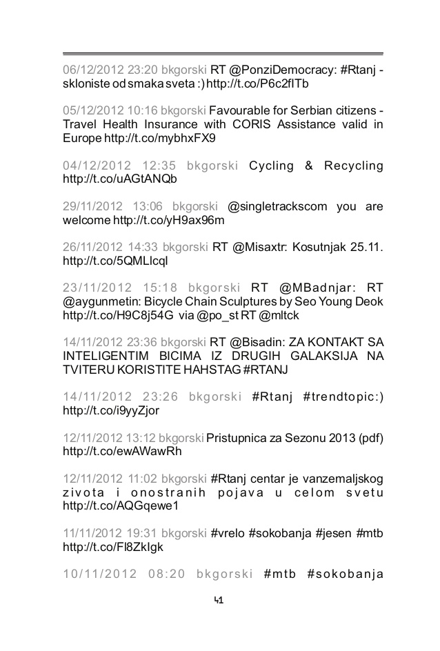 tweetbook: Digitalna hronika kluba 5/2010 - 10/2014 ????????? ???????�