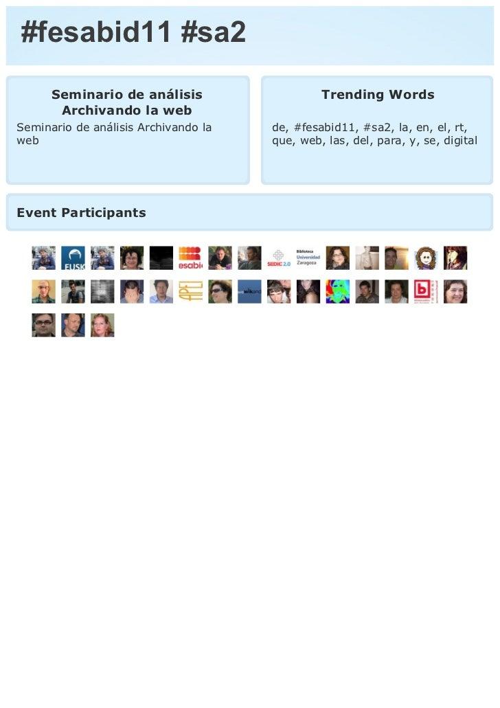 #fesabid11 #sa2      Seminario de análisis                    Trending Words       Archivando la webSeminario de análisis ...