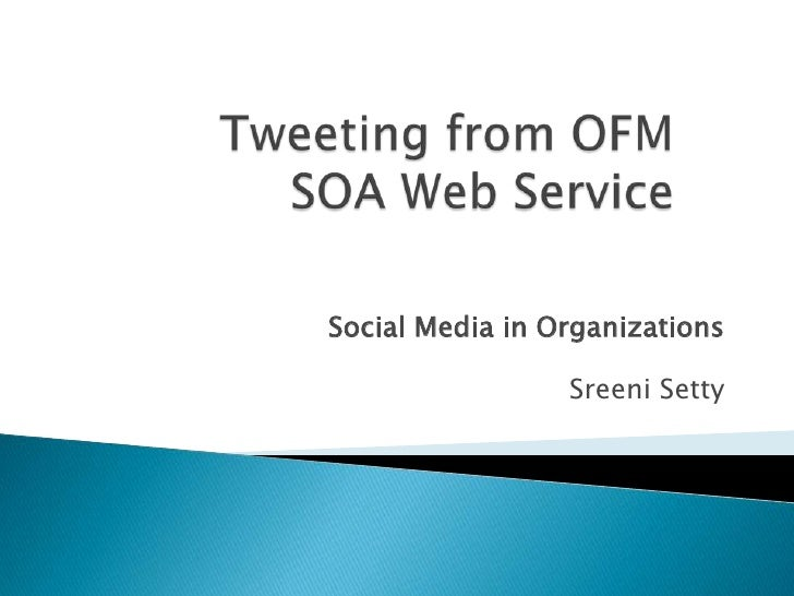 Tweeting from Oracle Fusion SOA Suite