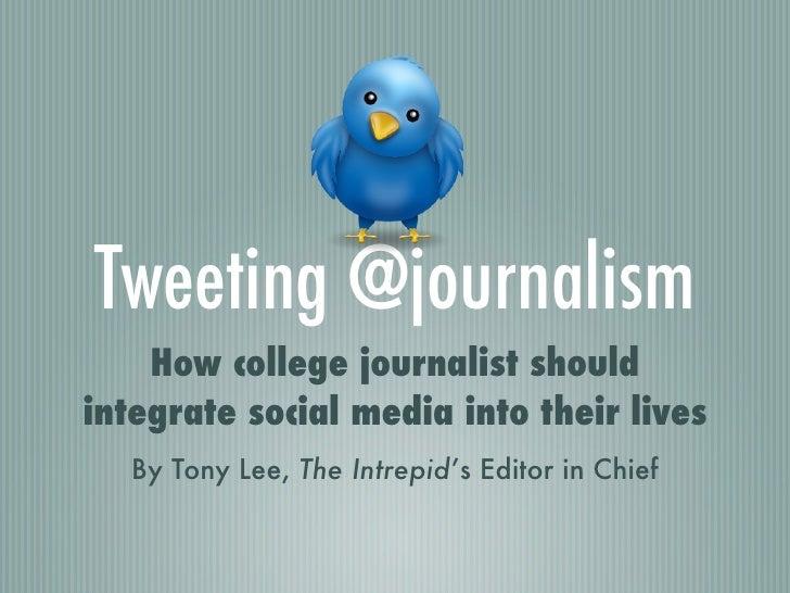 Tweeting @journalism