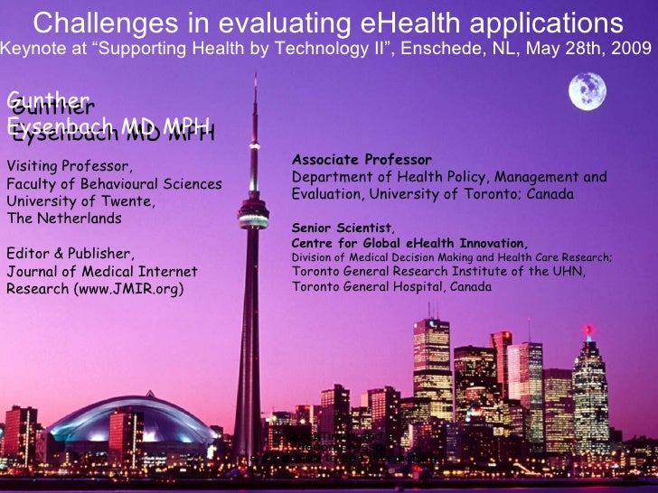 Challenges in evaluating eHealth applications