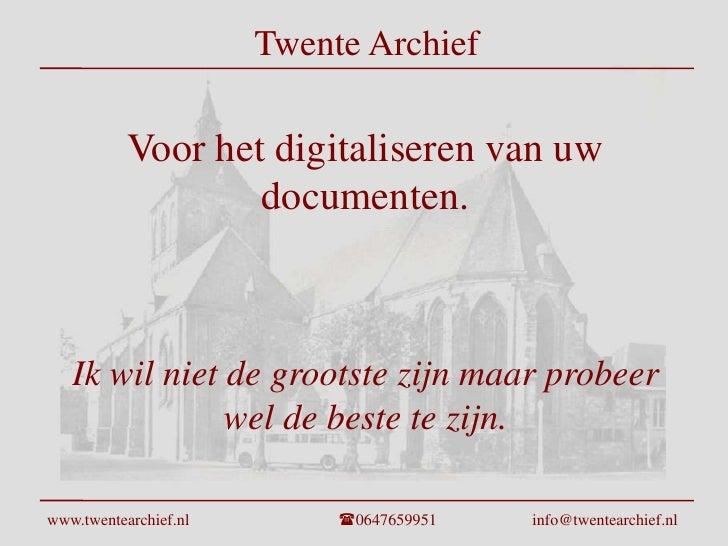 Twente Archief Presentatie Rev