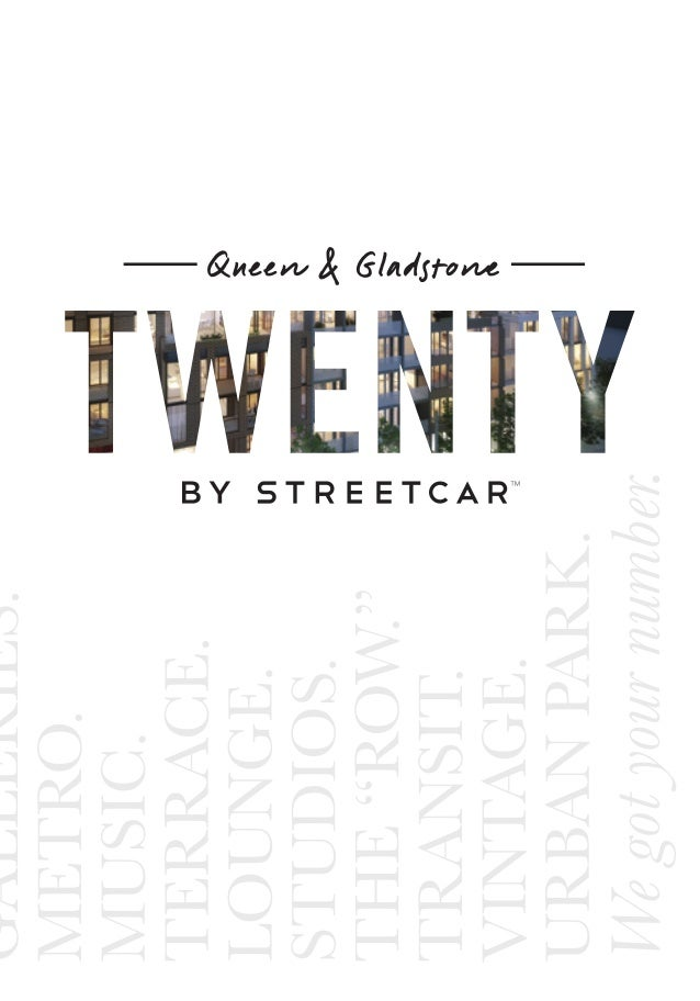 Introducing TWENTY by Streetcar, a striking new seven-storey loft building created in proud partnership with Dundee Realty...