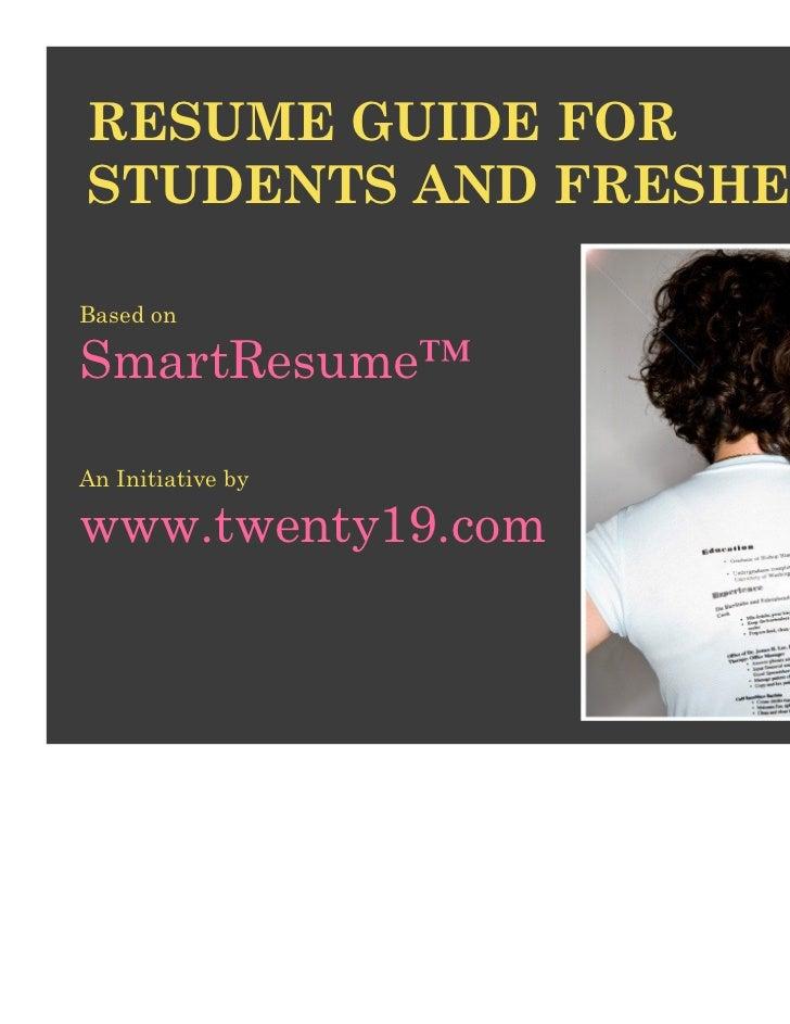 Twenty19 smart student_resume_guide