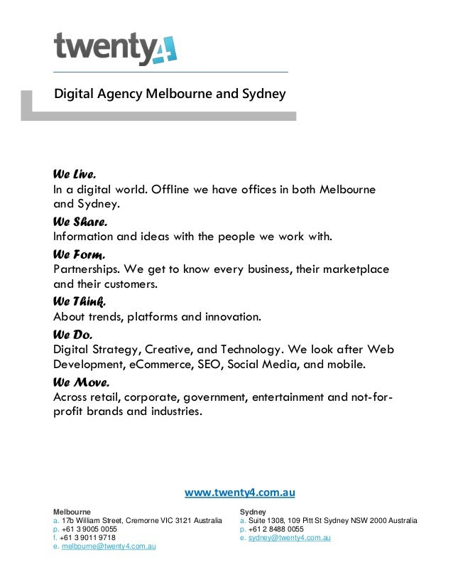 twenty4 - Digital Marketing Agency