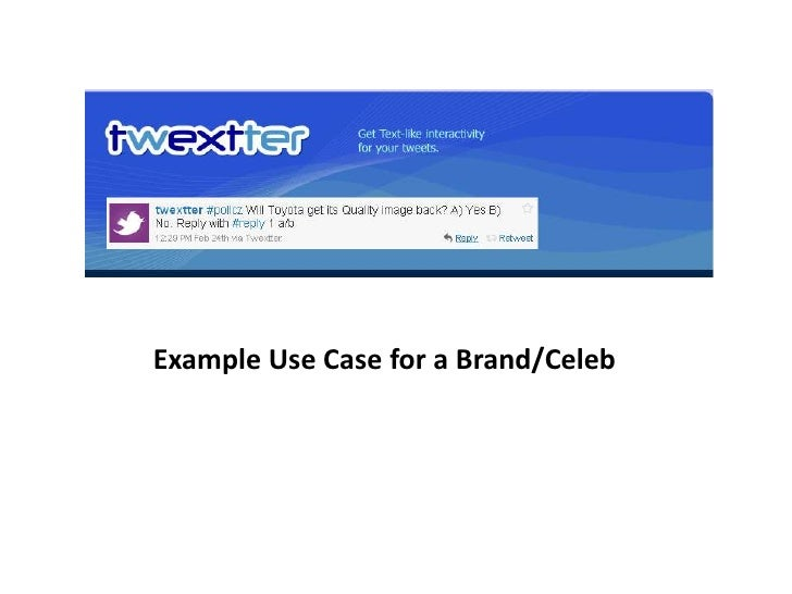 Example Use Case for a Celebrity/Brand<br />