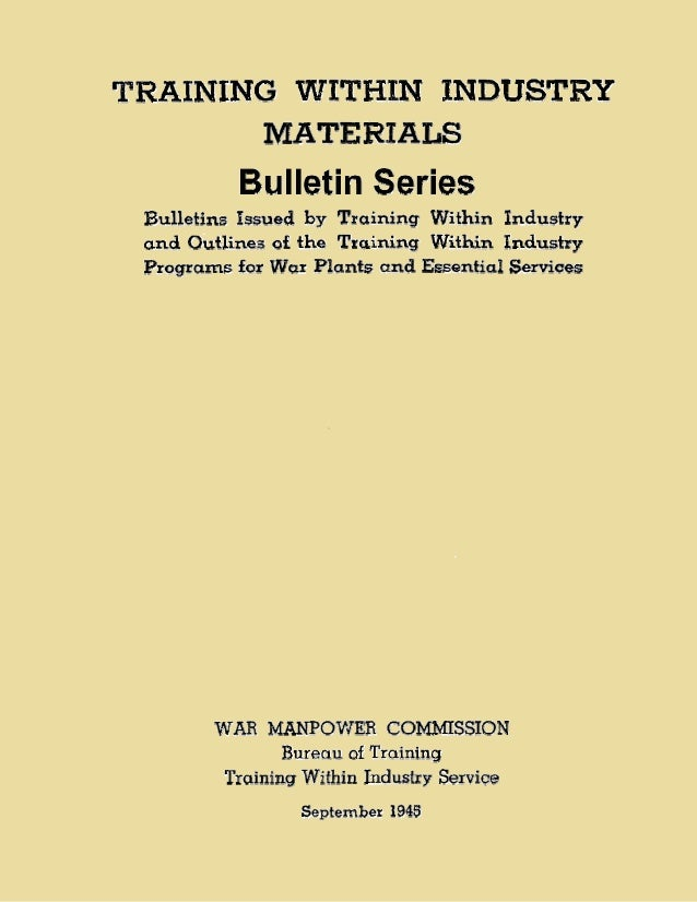 Twi bulletin series_manual