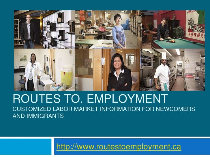 ROUTES TO. EMPLOYMENTCUSTOMIZED LABOR MARKET INFORMATION FOR NEWCOMERSAND IMMIGRANTS           http://www.routestoemployme...