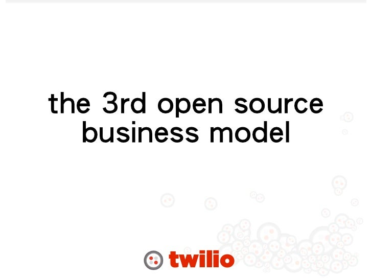Twilio OpenVBX and the 3rd Open Source Business Model