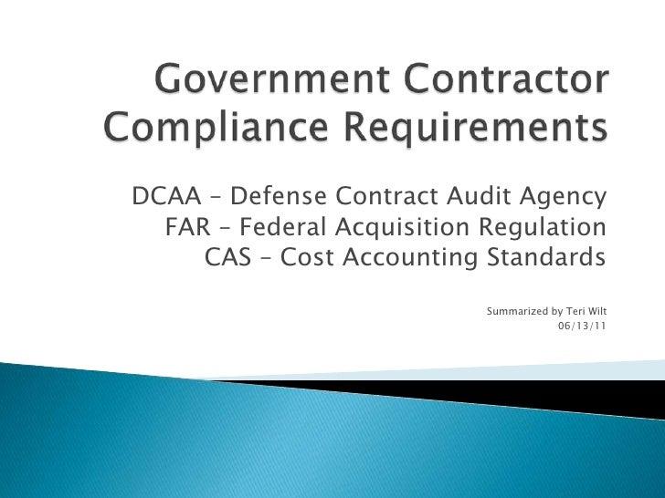DCAA Compliance Summary 06.13.11
