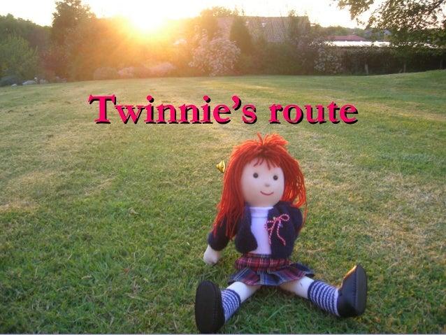 Twinnie's routeTwinnie's route