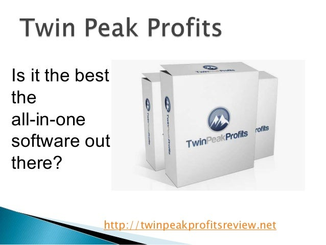 Is it the besttheall-in-onesoftware outthere?             http://twinpeakprofitsreview.net