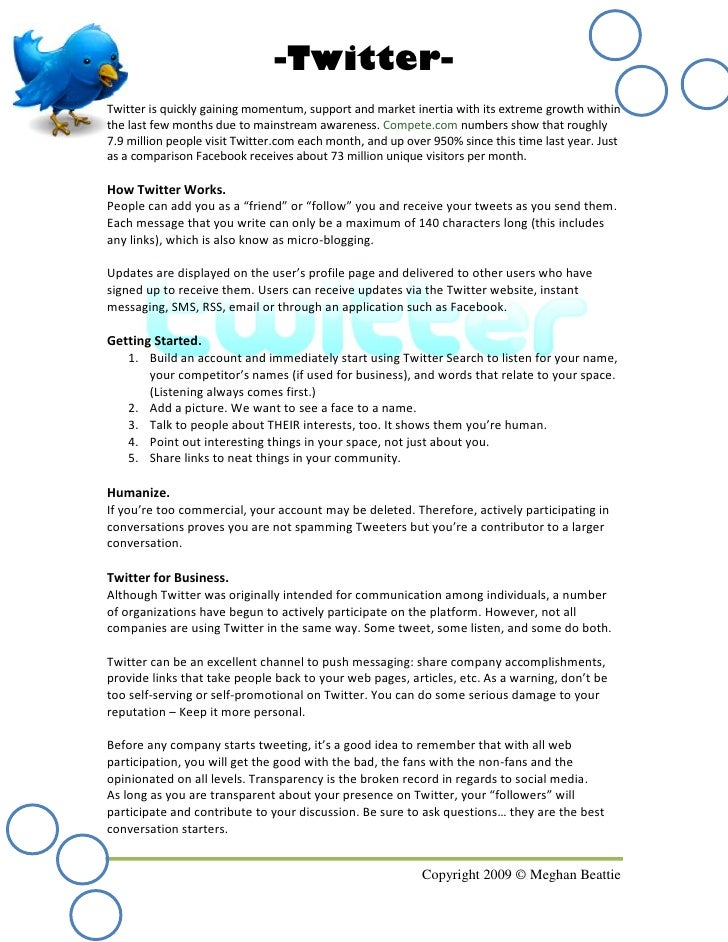 -Twitter- Twitter is quickly gaining momentum, support and market inertia with its extreme growth within the last few mont...