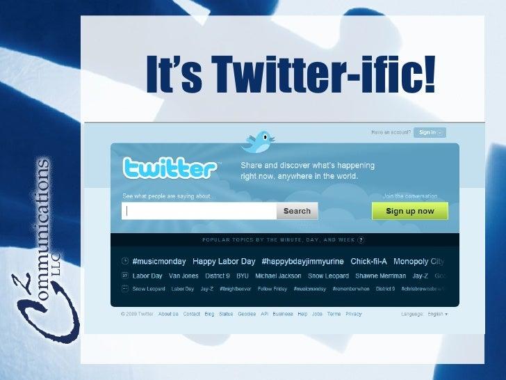 It's Twitter-ific!