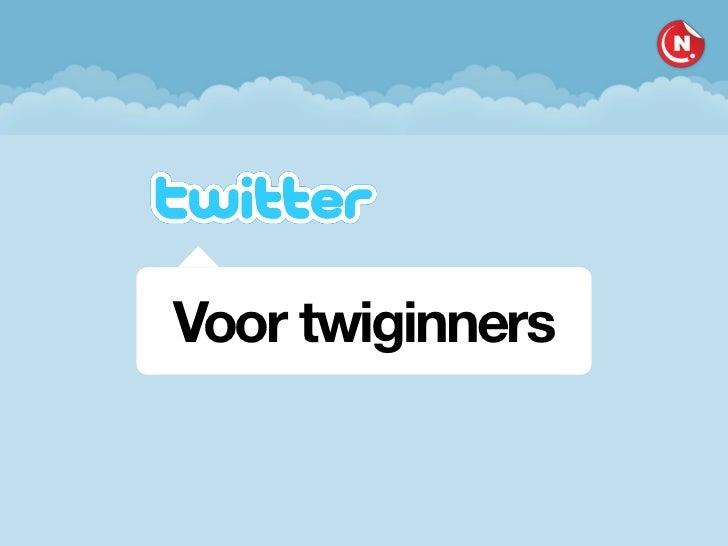 Twitter voor Twiginners