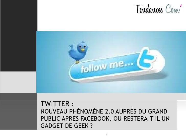 Twitter : vers le grand public