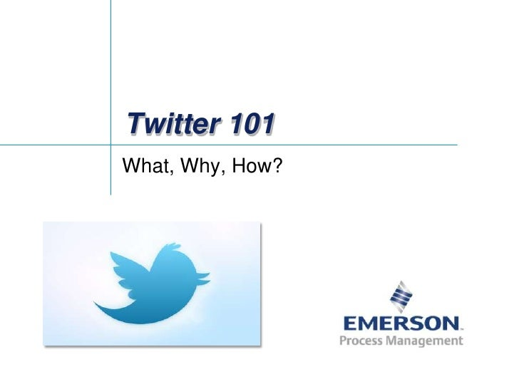 Twitter 101 for Emerson Exchange