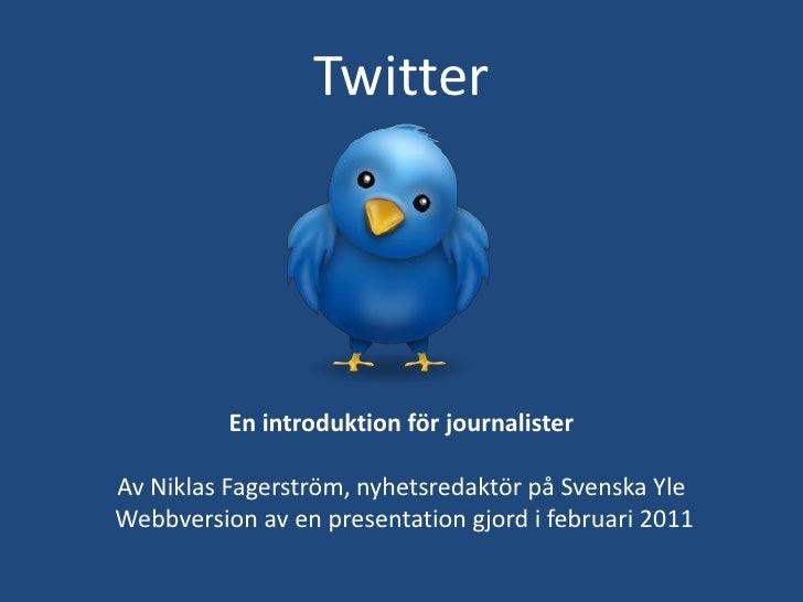 Twitter för journalister