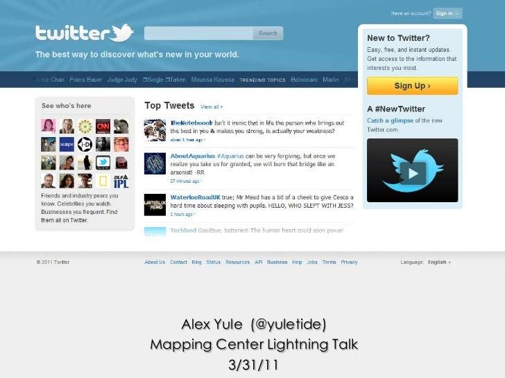 Esri Mapping Center Lightning Talk: Twitter