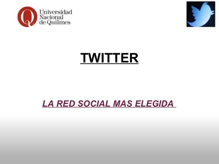 Twitter - Comisión 7