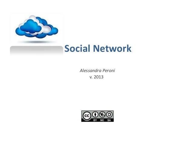 Social Network Alessandra Peroni v. 2013