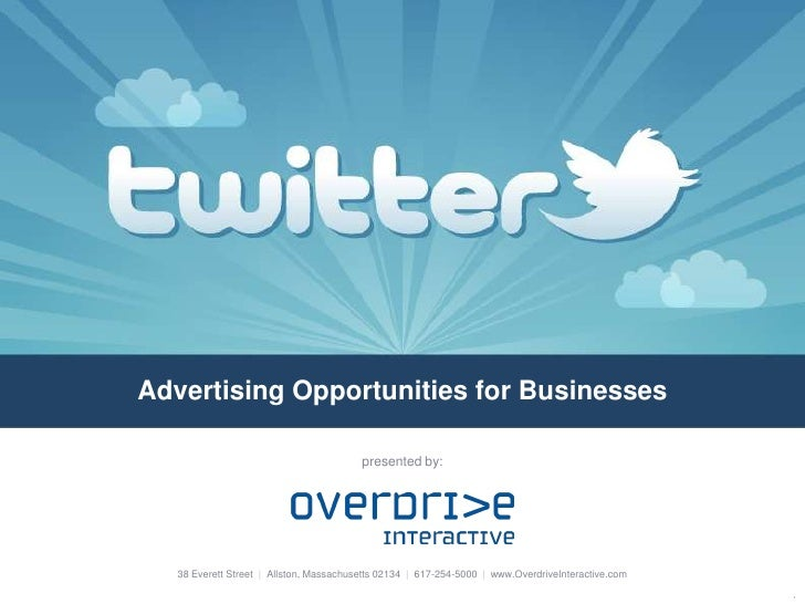 Advertising Opportunities for Businesses<br />presented by:<br />38 Everett Street  |  Allston, Massachusetts 02134  |  61...