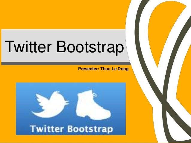 Twitter Bootstrap Presentation