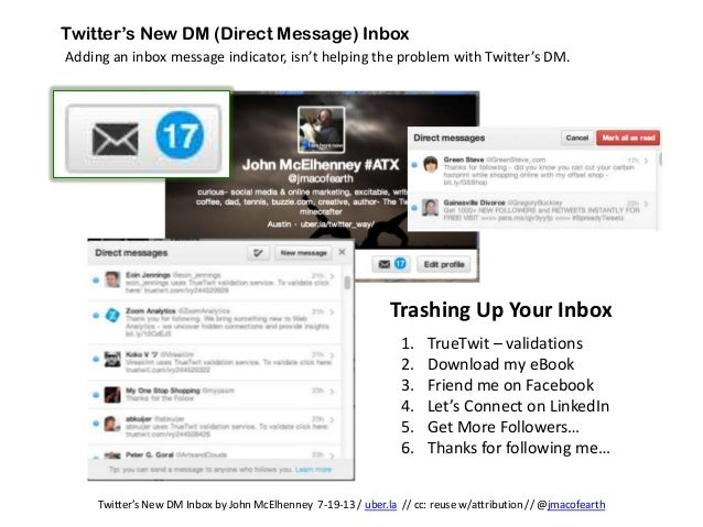 Twitter Inbox Problems - What's Up with the DM?