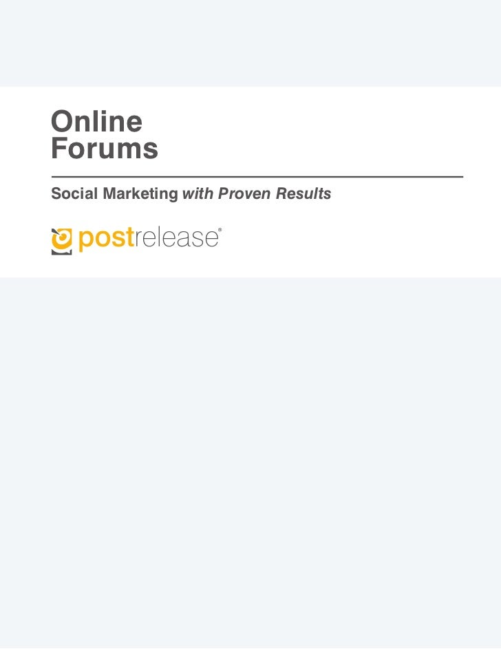 OnlineForumsSocial Marketing with Proven Results